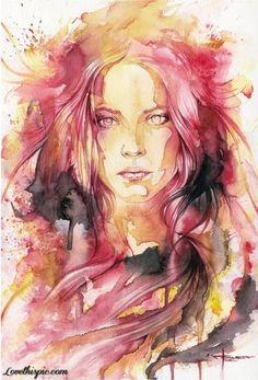 Painting of Woman beautiful