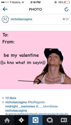 No Ragrets, We're the Millers Valentines Day Card HAHAHAHA LMAO I saw ths movie i couldn't stop laughing durng the part