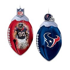Houston Texans FootBells Ornament Collection Houston Texans Football, Nfl Football, Jj Watt, Super Bowl, Christmas Bulbs, Holiday Decor, Gifts, Collection, Wonderful Time