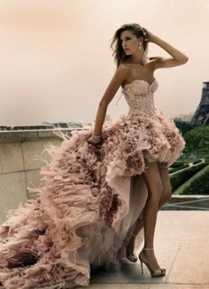 Unusual colorful wedding dresses