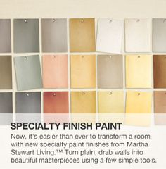 """Martha Stewart """"Precious Metals"""" paint/ want to use Silica, ice floe, crag & maybe mirror glass"""