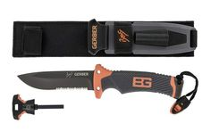 The Gerber Bear Grylls Ultimate Fixed Blade Knife is the pinnacle of Gerber?s Bear Grylls Survival Series. Intricately designed by Gerber and Bear, it?t be found in any other fixed blade knife. Bear Grylls Survival, Survival Shelter, Survival Life, Survival Gear, Survival School, Survival Weapons, Survival Quotes, Camping Survival, Emergency Preparedness