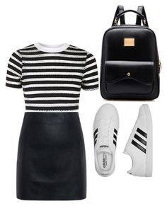 """Untitled #6"" by abriellekitty ❤ liked on Polyvore featuring McQ by Alexander McQueen, Topshop and adidas"