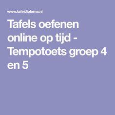 Tafels oefenen online op tijd - Tempotoets groep 4 en 5