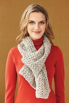 crochet tweedy scarf pattern via lion brand Crochet Gratis, Knit Or Crochet, Learn To Crochet, Crochet Scarves, Crochet Shawl, Crochet Hooks, Free Crochet, Crocheted Scarf, Crochet Things
