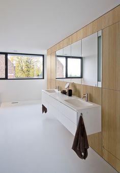 Shinnoki Prefinished Wood Panel, Vanilla larch - interior design - bathroom - cabinet - woodworking