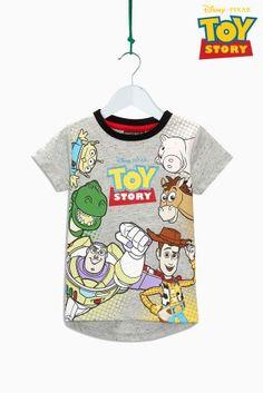 Grey Short Sleeve Toy Story T-Shirt (3mths-6yrs)