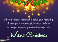 Christmas Quotes for Friends | English Merry Christmas Greetings for Best Friends ...