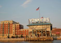 Yonkers Recreation  Pier, located at the foot of Main Street in scenic downtown Yonkers.