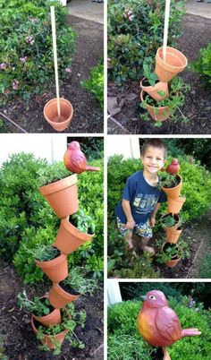 Low-Budget DIY Garden Pots and Containers. – Military Life's Moments Low-Budget DIY Garden Pots and Containers. Low-Budget DIY Garden Pots and Containers. Garden Crafts, Diy Garden Decor, Garden Projects, Diy Crafts, Garden Planters, Herb Garden, Succulent Planters, Easy Garden, Organic Gardening