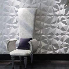 A21034 - Diamond 3D Textured Wall Panels 12 Pcs 3D Illuminative Wall Covering 32.29 Sq.Ft(3 m²)