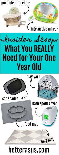 What You REALLY need for Your One Year Old #toddler #toddlerlife #musthave
