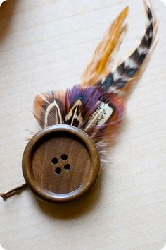 How to make your own feather hair clip with a bobby pin, felt, glue, feathers, and a button! :o)