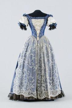 Woman's dress, c. 1870, Hungary.