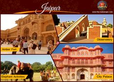 """Jaipur is the gateway to India's most flamboyant state Rajasthan also known as """"Pink City"""" one of the most royal, majestic & colourful city. Explore Jaipurs' City Palace, Amber Fort, Jantar Mantar and City Palace Museuml. Get closer look at heritage of India with Maharajas' Express lavishing tour.  For More Info Visit: http://www.the-maharajas.com/  #Royalityontrain #luxurytravel #indiatravel #incredibleindia #luxuryindia #luxurytrainsindia #Jaipur"""