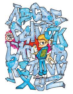 Alphabet Graffiti Text, Graffiti Tagging, Graffiti Murals, Graffiti Lettering, Grafitti Alphabet, Graffiti Alphabet Styles, Sketchbook Inspiration, Art Sketchbook, Abc Font