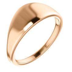 14kt Rose Geometric Signet Ring