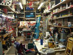 but functional for various processes Old Garage, Garage Tools, Garage Shop, Garage Tool Organization, Workshop Organization, Garage Storage, Workshop Shed, Workshop Storage, Woodworking Garage