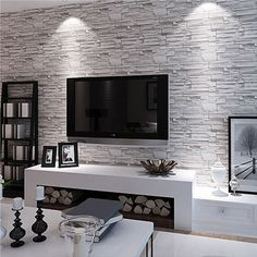 Modern style 3D wallpaper stone brick design background wall PVC wallpaper waterproof papel de parede tapete rolls with Free Shipping  have discount 35.0% Off sales