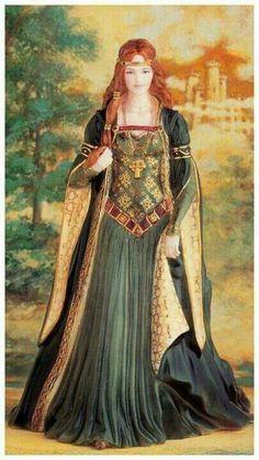 """A deusa celta Brígida (variações: Brigit, Brighid ou Brig) é filha do deus Dagdha - ou """"o bom deus"""" - e protetora dos animais de criação. A festa pagã do Imbolc, realizada anualmente em 1º de fevereiro, reverenciava o papel de Brígida no nascimento dos carneiros e ovelhas e na lactação das ovelhas.  (Fonte: Irlanda celta: entre os druídas e os grandes reis, Editora Folio.) É uma das mais populares deusas celtas na Irlanda."""