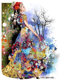 """""""3 Klimt ......"""" by eva-lara ❤ liked on Polyvore"""