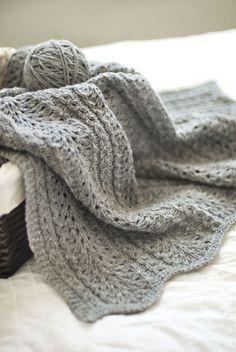 Modèle de tricot - Brooklyn Tweed Couverture SHALE BABY BLANKET - L'échappée Laine