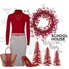 """Teacher's Apple Red"" by firefly7522 on Polyvore"