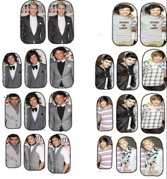 ONE DIRECTION 1D nail decals in clear or solid by chachacovers