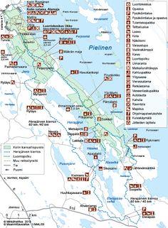 Herajärvenkierroksen kartta