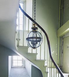 The Globe lantern has become the signature shape of Jamb lighting. Made with meticulous attention to detail and antique finishes. Exclusively by Jamb Ltd. Stair Lighting, Hallway Lighting, Home Lighting, Lighting Ideas, Hanging Lanterns, Hanging Lights, Twisted Oak, Hall Interior, Interior Design