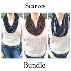 ✨⭐️Scarf bundle⭐️✨ Three lightweight infinity scarves.  Great for any season.  All the same length.  Excellent condition! Accessories Scarves & Wraps