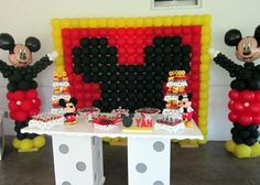 Mickey themed party dessert table ideas