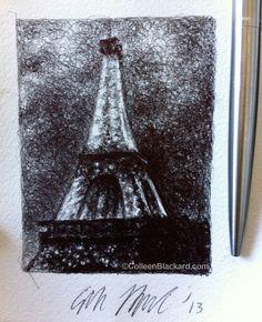 Paris Dreams, 2013 Ballpoint on paper SOLD Ballpoint Pen Drawing, Small Drawings, Dreams, Paris, Pen Drawings, Montmartre Paris, Paris France, Small Paintings