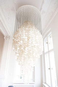 Beautiful DIY shell light fitting