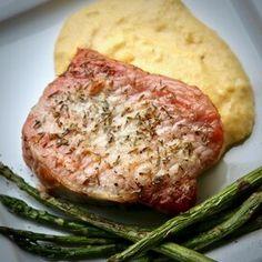 Perfect Simple Roasted Pork Chops Marinated Baked Pork Chops, Roast Pork Chops, Juicy Pork Chops, Easy Dinner Recipes Pork, Pork Chop Recipes, Sausage Recipes, Meat Recipes, Recipies, Easy Sausage Casserole