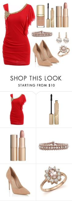 """""""flame"""" by claribelelarkins ❤ liked on Polyvore featuring Stila, Charlotte Tilbury, Cocobelle, Lipsy, Bloomingdale's and vintage"""