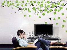 Cherry blossom tree-in Wall Stickers. $25.89