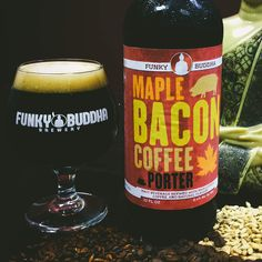 Maple Bacon Coffee Beer  by Florida's Funky Buddha Brewery. Awesome brewery.