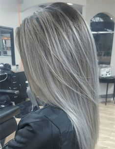 ideas hair color highlights for grey going gray for 2019 ideas hair color highlights for grey going gray for 2019 Related posts:longer silver hairTascha, with silver hair blazing.In search of the perfect crossbody bag Grey Ombre Hair, Grey Blonde, Ash Blonde Hair Silver, Silver Hair Colors, Long Grey Hair, Grey Hair Colors, Brown Hair, Teal Hair, Ash Brown