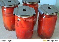 Nakládaná paprika v oleji recept - TopRecepty.cz