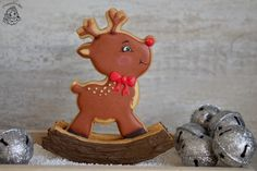 Look what our talented customer Kim (www.nl) made with our Rocking Rudolf Cookie Cutter Set. Christmas Baking, Christmas Treats, Winter Christmas, Christmas Cookies, Cupcakes, Cupcake Cookies, Horse Cookies, Super Cookies, Galletas Cookies