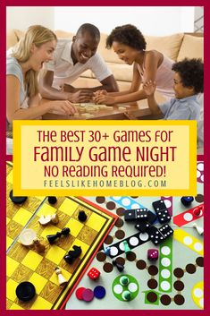 The best games for family game night! These are fun board, dice, and card games for kids and adults to play together, and no reading is required. Play Based Learning, Learning Through Play, Fun Learning, Family Game Night, Family Games, Overwhelmed Mom, Card Games For Kids, Kids Board, Adult Games