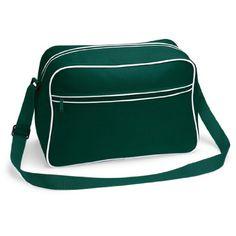 Shirtstown Retro Shoulder Bag, Umhängetasche, Schultertasche, Retro, Tasche, Farbe bottlegreenwhite