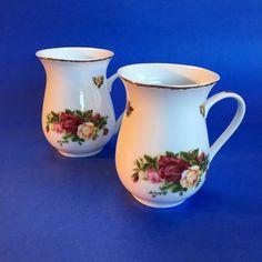 2 Royal Albert Old Country Roses Bone China Tea Mugs Cups England
