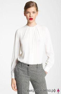 Блузка с защипами моделирование
