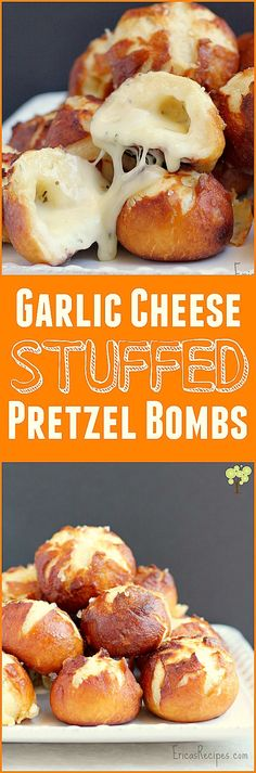 Garlic Cheese-Stuffed Pretzel Bombs http://wp.me/p4qC4h-1wD