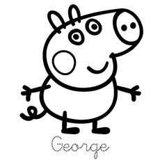 Printable Peppa Pig Coloring Pages. Have a Joy with Peppa Pig Coloring Pages. Do your children like to color pictures? If they do, the Peppa pig coloring pages Peppa Pig Coloring Pages, Family Coloring Pages, Birthday Coloring Pages, Valentine Coloring Pages, Cartoon Coloring Pages, Coloring Pages For Kids, Coloring Books, Coloring Sheets, Peppa Pig Cartoon