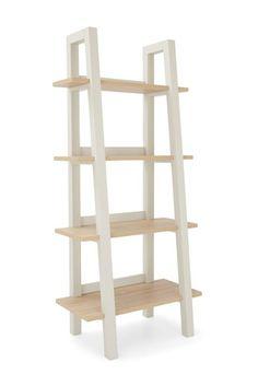 Buy Malvern Ladder Shelf from the Next UK online shop Plant Shelves, Wood Shelves, Shelving Units, Corner Shelves, Home Living Room, Living Room Furniture, Ladder Bookcase, Bookcases, Grey Paint