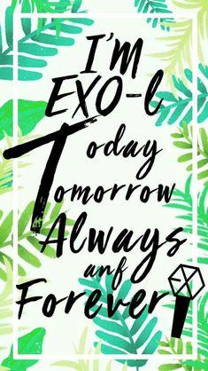 ben exo-lim bügün yarın daima ve sonsuza dek...