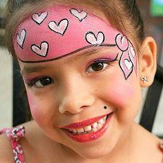 Face painting piraat meisje
